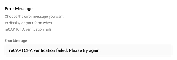 Where you edit your captcha error message.