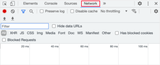 Click the Network Tab