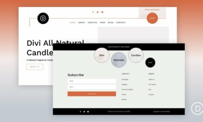 Download a FREE Header and Footer Template for Divi's Candle Making Layout Pack