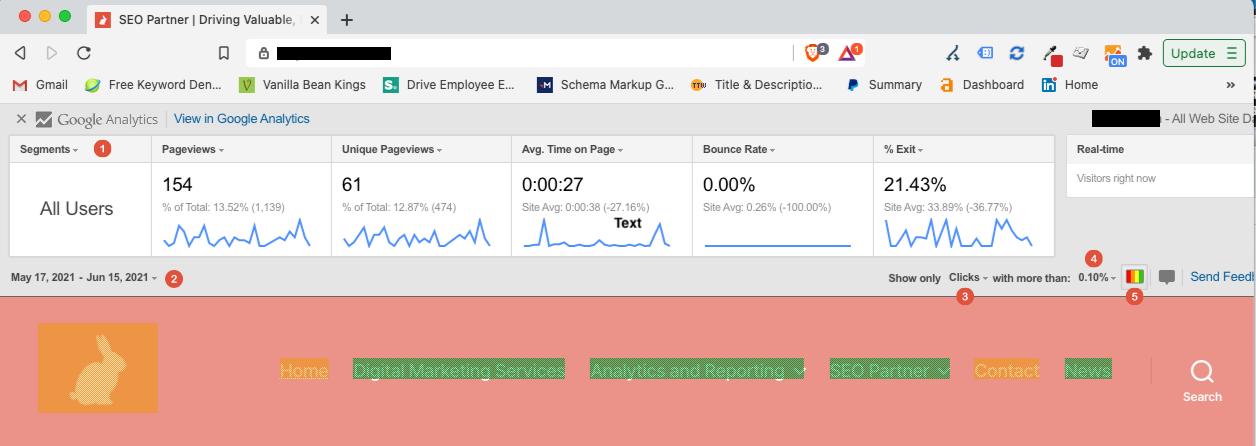 Google Analytics Heatmap_Screenshot Annotation of Page Analytics