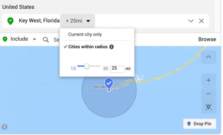 Setting location targeting.