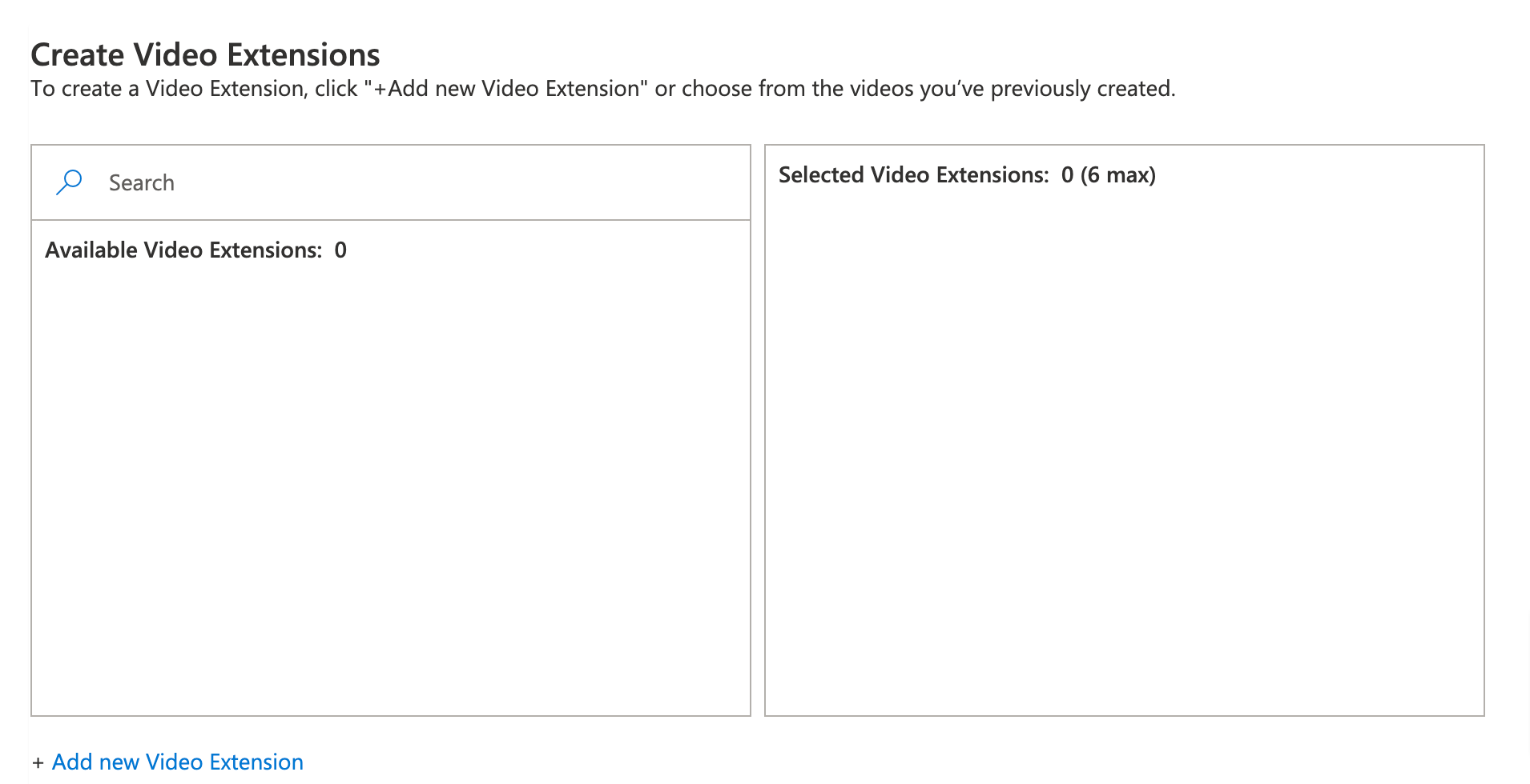 microsoft ads create video extensions