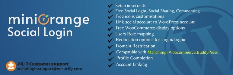 Miniorange WordPress Social Login