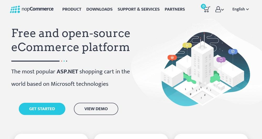 nopCommerce homepage
