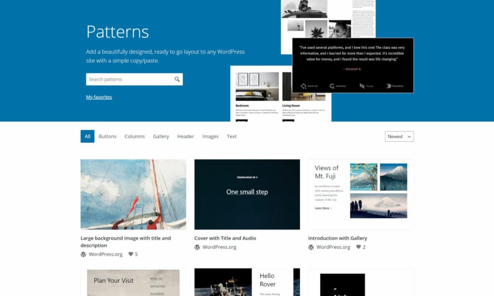 The WordPress.org Block Pattern Directory Is Now Live