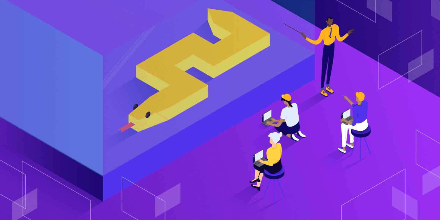 Python Tutorials, featured image, illustration.