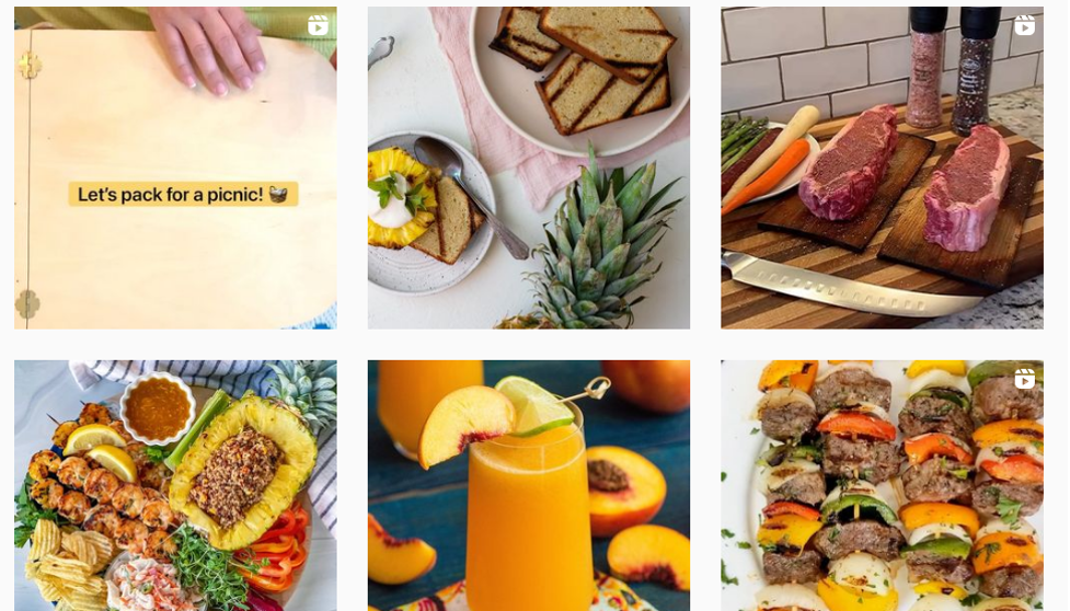 Instagram advertising examples of Sprouts Farmers Market.
