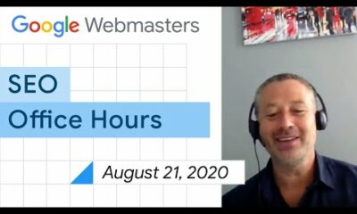 English Google Webmaster Central office-hours from August 21, 2020