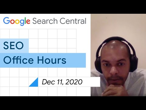 English Google SEO office-hours from December 11, 2020