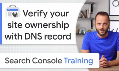 DNS record for site ownership verification - Google Search Console Training