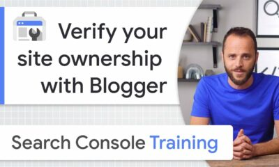 Blogger for site ownership verification - Google Search Console Training