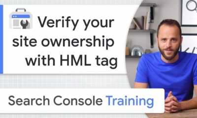 HTML tag for site ownership verification - Google Search Console Training