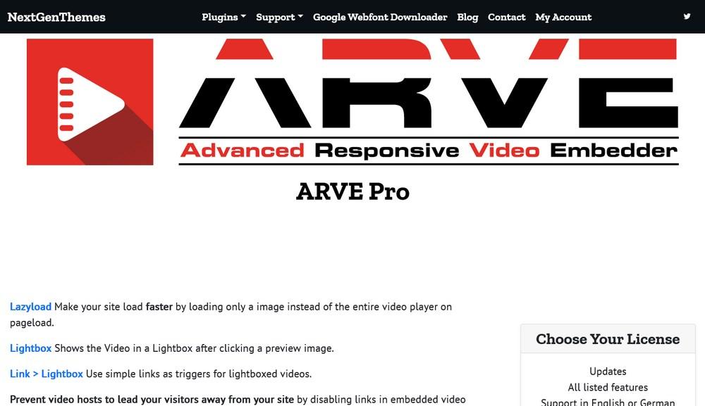 ARVE Pro homepage