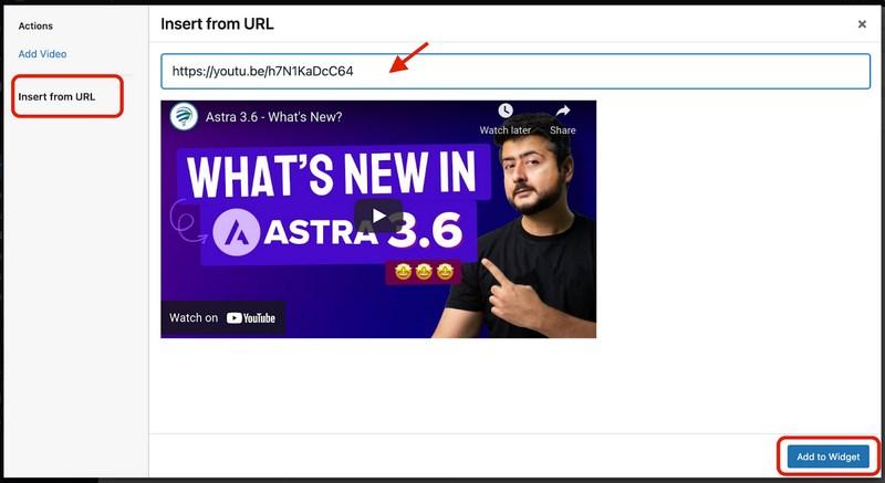 Add video from URL