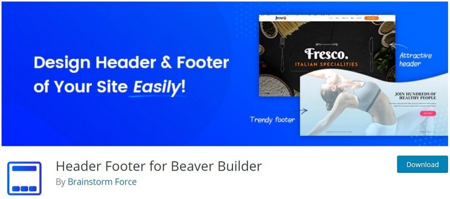 Beaver builder header footer builder plugin