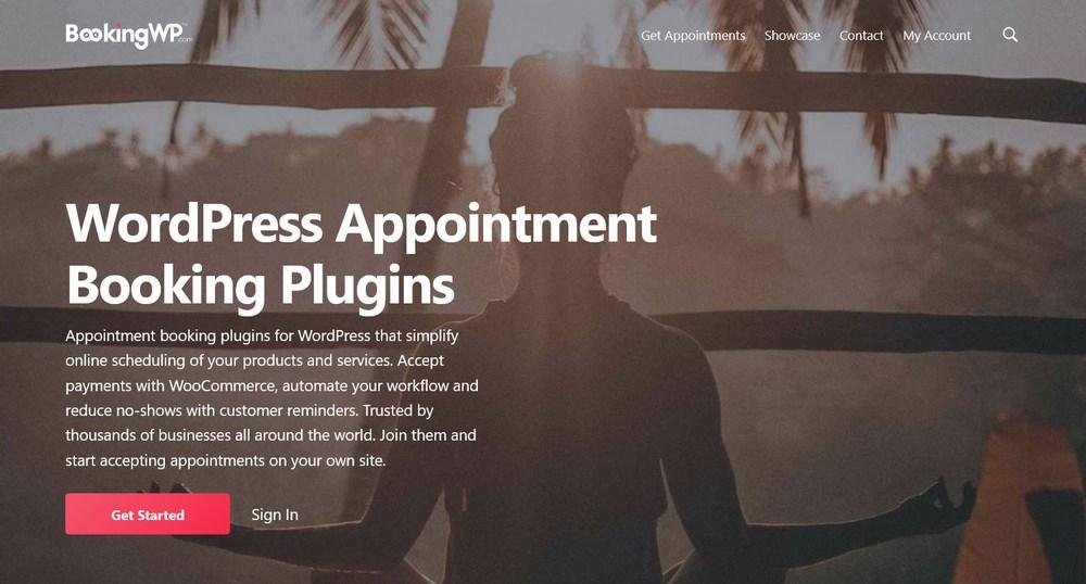 BookingWP homepage