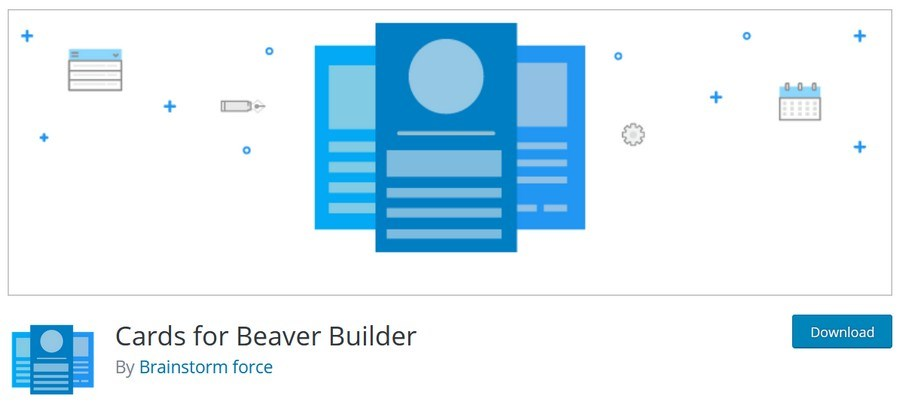 Cards for beaver builder plugin