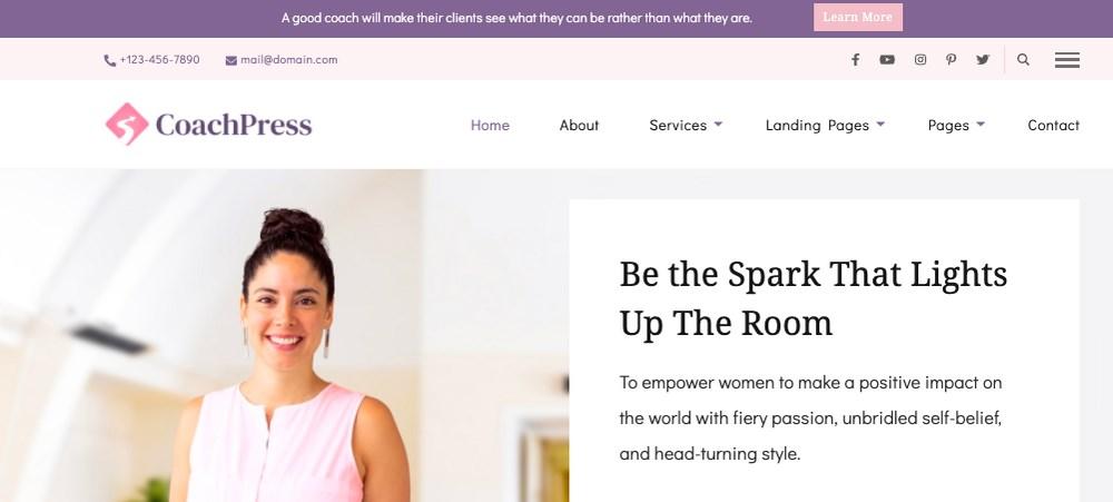 CoachPress WordPress theme for Consultants
