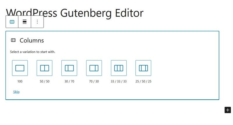 Columns in WordPress