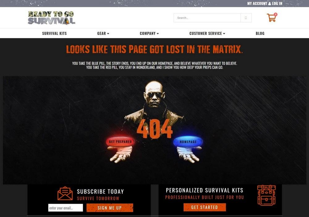 Custom 404 error page 2