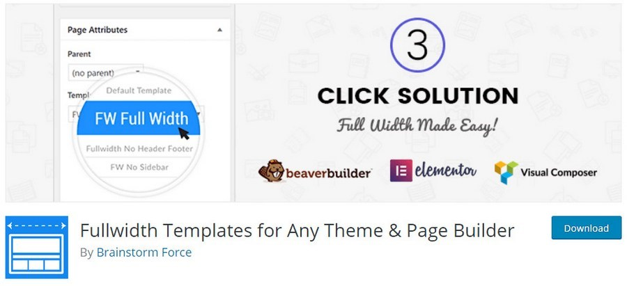 Fullwidth templates for any theme and page builder WordPress plugin