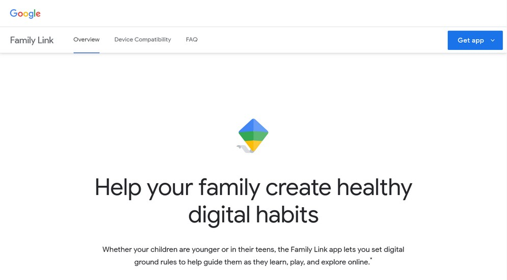 Google family link page