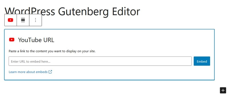 Gutenberg YouTube block
