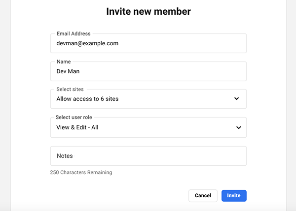 Where you invite your first new member.