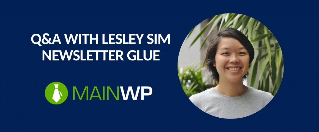 Featured image: Lesley Sim Newsletter Glue
