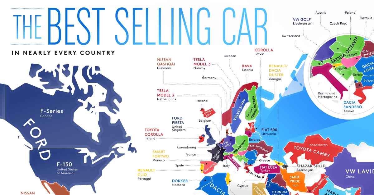 The Best-Selling Vehicles in the World By Country