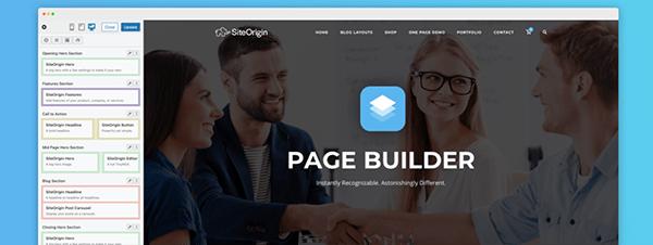 Page Builder header.