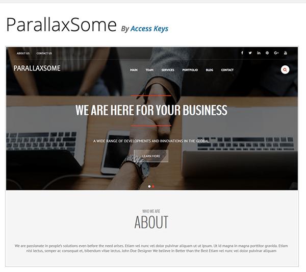ParallaxSome header.