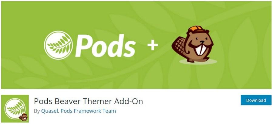 Pods beaver themer add on plugin