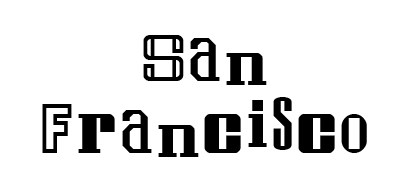San Francisco font for decoration