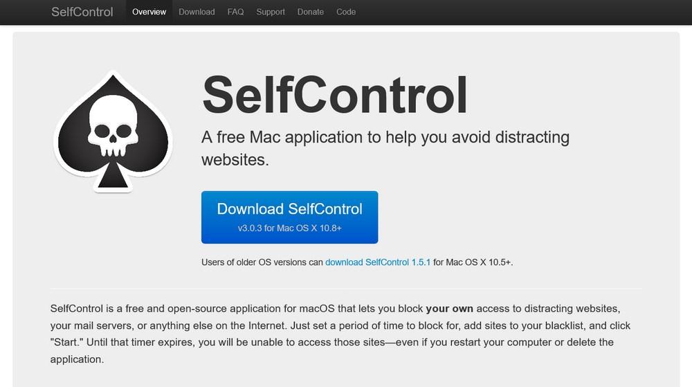 SelfControl homepage