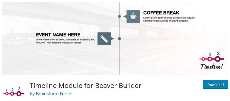 Timeline Module for Beaver Builder BSF plugin
