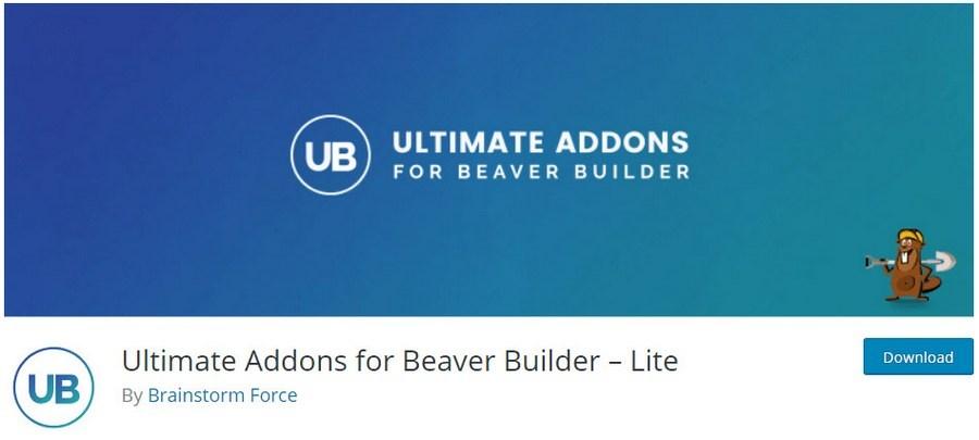 Ultimate addons for beaver builder lite plugin