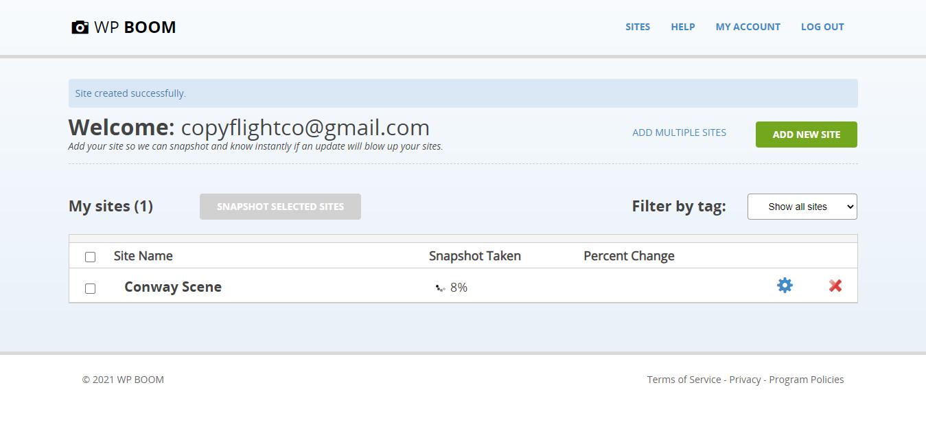My dashboard screenshot: www.wpboom.com