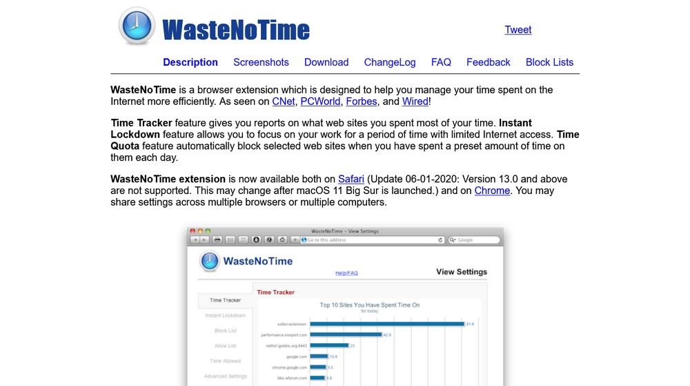 WasteNoTime App