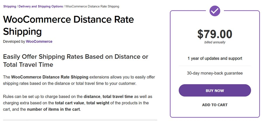 WooCommerce distance rate shipping plugin