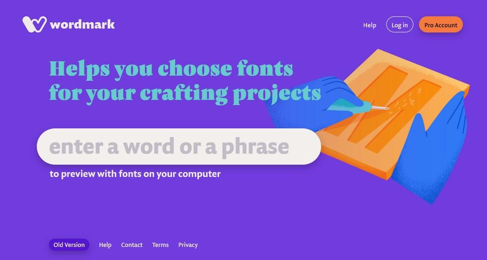 Wordmark homepage