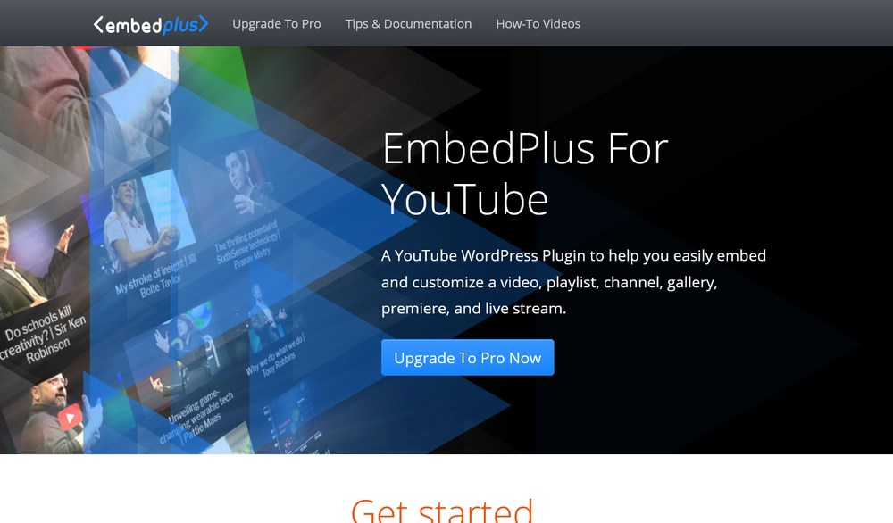 YouTube WordPress Plugin to embed and customize a video