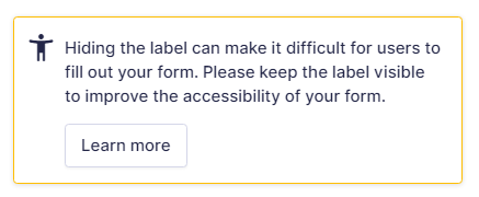 Accessibility Warning
