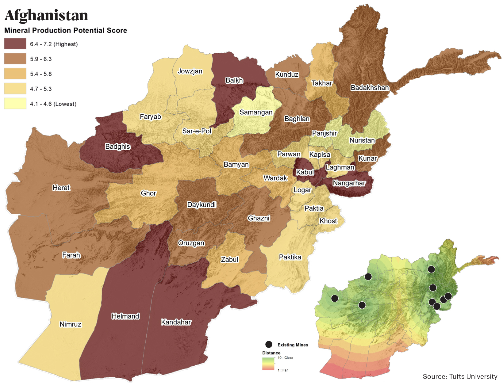 afghanistan mineral production potential