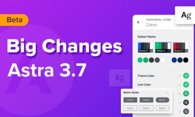 Astra 3.7 Beta is Here! Try Global Color Palette, Button & Typography Presets