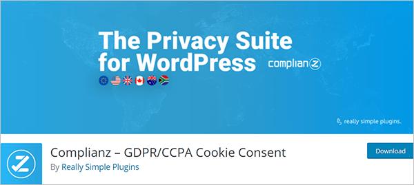 Complianz – GDPR/CCPA Cookie Consent