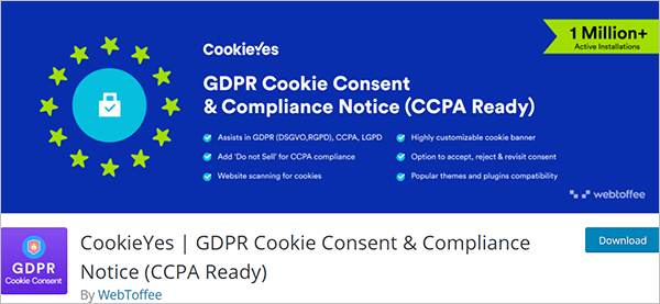 CookieYes   GDPR Cookie Consent & Compliance Notice (CCPA Ready)