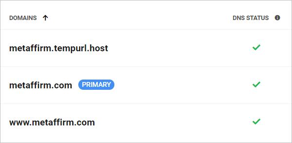 Primary domain name