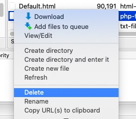 delete php ini file