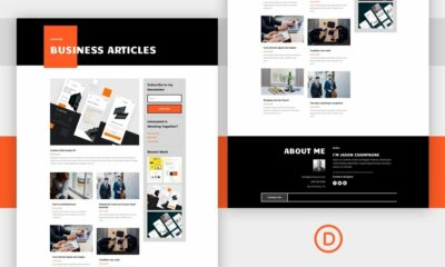 Download a FREE Category Page Template for Divi's Creative CV Layout Pack
